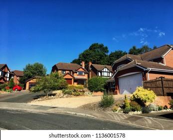 English suburban street in summer