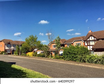 English suburbs; view of typical english suburban housing