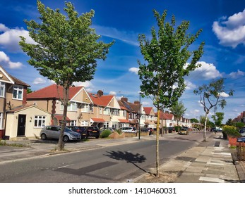 English suburbs; Welling, Bexley, London England, May 2019 view of typical english suburban housing - editorial use only