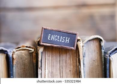 English tag and books