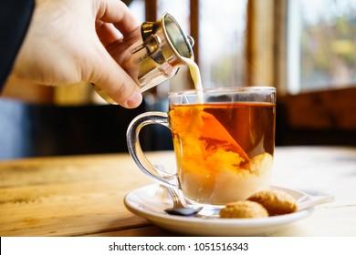 English tea with Milk in UK