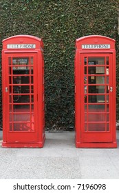 English telephone booths