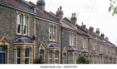 English terraced houses in Bristol
