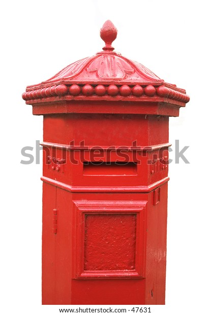 English Victorian Penfold hexagonal pillarbox, circa 1866. This one is on the main street in Great Yarmouth, Norfolk.