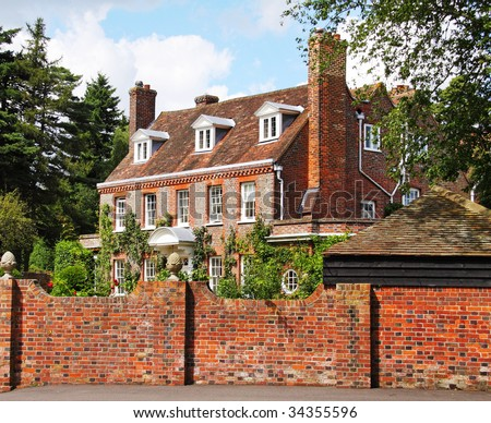 English Village Manor House Gardens Surrounded Stock Photo (Edit Now ...