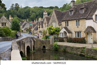 English villages:  Cotswold village of Castle Combe, England