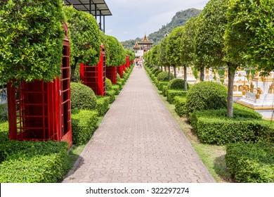 English-style park. English park concept of Nong Nooch Garden