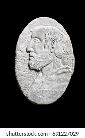 Engraved Art of Hippocrates of Kos, Father of Modern Medicine