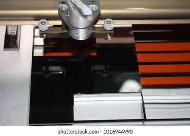 Engraving and cutting acrylic plastic with laser