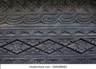 Engraving of Rumah Baghi in Pagaralam, South Sumatera