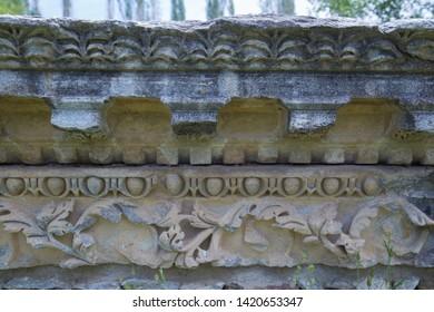Engravings on stone at Aizonai, Anatolia, Turkey.