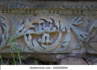 Engravings on stone at Aizonai ancient city, Anatolia, Turkey