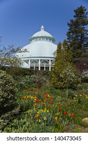 The Enid A. Haupt Conservatory at the New York Botanical Garden in the Bronx (Portrait Orientation)