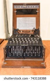 The Enigma Cipher Machine from World War II