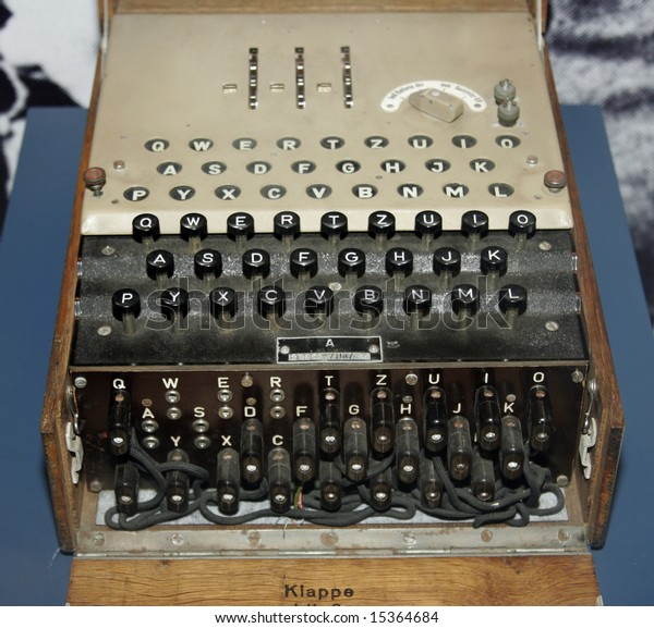 The Enigma decoding machine from World War II