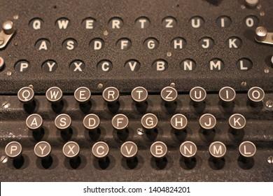 Enigma German Coding Machine Keyboard Buttons