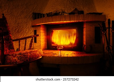 Enjoy at the fireplace