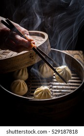 Enjoy your manti dumplings in bamboo steamer