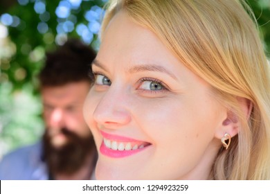 Enjoying the beauty of a healthy smile. Beauty look of smiling model. Happy woman with healthy teeth. Sensual woman with white smile. Pretty woman with happy smile. Dental care and teeth cleaning.