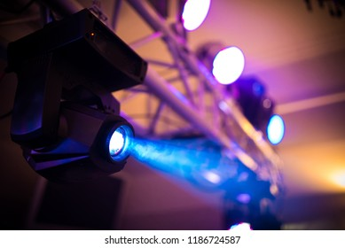 enjoying music in the club and luxury light performance - concert background