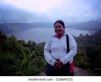Enjoying The Natural Beauty Of Buyan Lake Nature from Wanagiri Village North Bali Indonesia