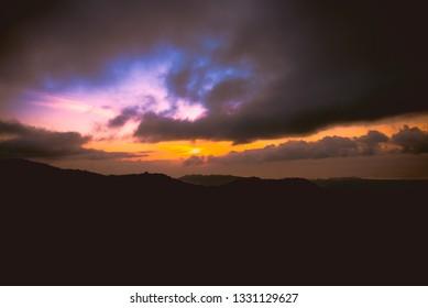 Enjoying sunset at the hihgland of Balamban, Cebu, Philippines.