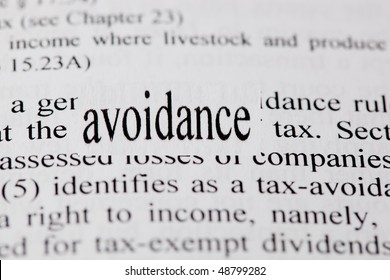 Enlarged word avoidance in context with tax