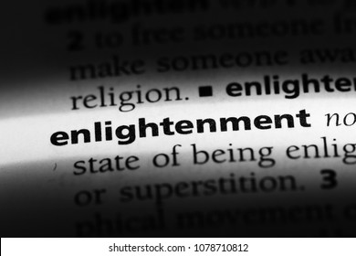 enlightenment word in a dictionary. enlightenment concept