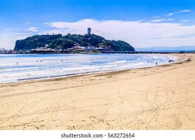 The Enoshima and Koshigoe coast. Located in Kamakura, Kanagawa Prefecture Japan.