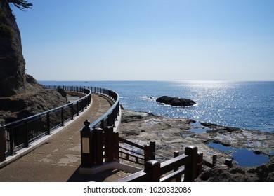 Enoshima walking trail, Kamakura, Japan