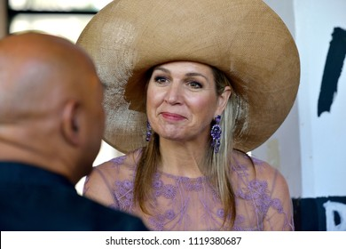 ENSCHEDE, THE NETHERLANDS - JUNE 21, 2018: Queen Maxima from the Netherlands during the re-opening of an old factory called 'The Performance Factory'.