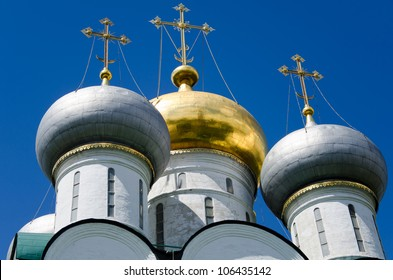 Ensemble of the Novodevichy Convent in Moscow, Russia