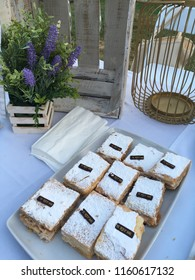 "Ensenada, Baja California, Mexico 6th of july 2018: Wine and Food tasting festival in Ensenada's hotel Riviera: gourmet French sweet pastries from ""El Rey Sol"", a famous Restaurant"