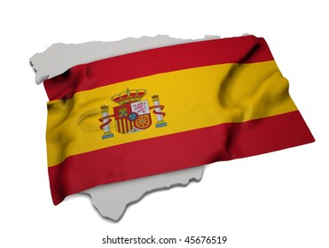 ensign covering the shape of spain