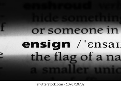 ensign word in a dictionary. ensign concept