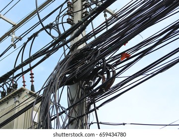 Entangled wires on an Electricity Pole