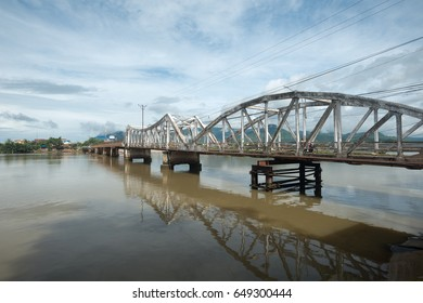 Entanou Bridge over the Pereaek Tuek Chhu River in Kampot, Cambodia