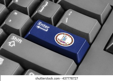 Enter button with Flag of the Commonwealth of Virginia