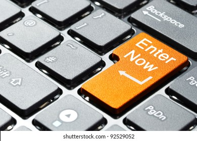 Enter now button on computer keyboard