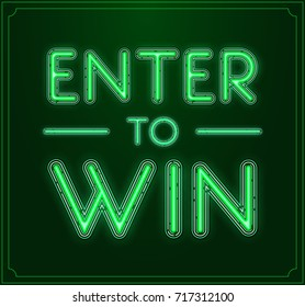 Enter to Win Raster Sign