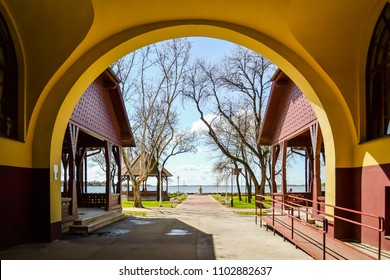 Entering the Palic lake near the town of Subotica
