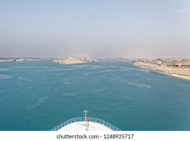 Entering the Suez Canal in Egypt by ship