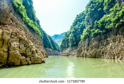 Entering in Three Rivers Gorges on the Yangtze River China