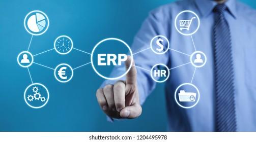 Enterprise resource planning. Business concept