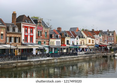 Entertainment and eatery in downtown Amiens, Picardie, France, 05-02-2018