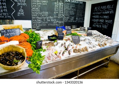 an enticing fishmongers display whitstable kent