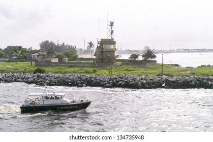 the entrance of abidjan port