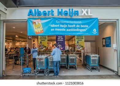 Entrance Of The AH XL Supermarket At Diemen The Netherlands 2018