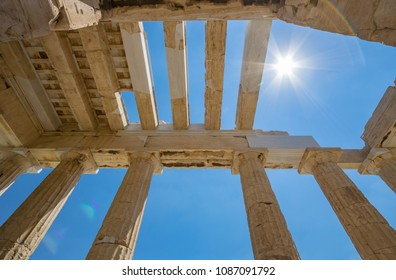 Entrance of Akropolis, Athens, Greece
