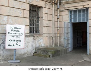 Entrance To Alcatraz Jail